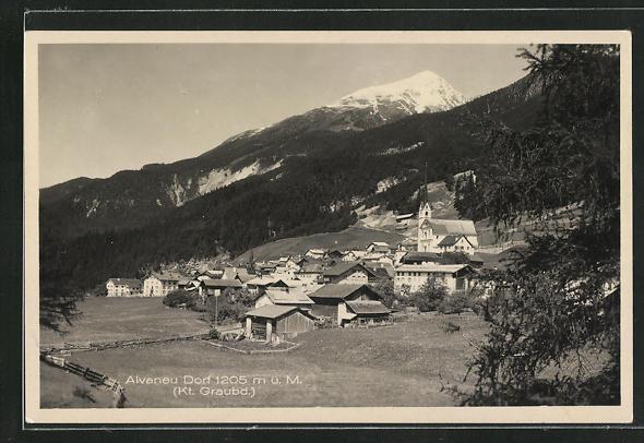 AK Alvaneu Dorf, Motiv mit Umland 0