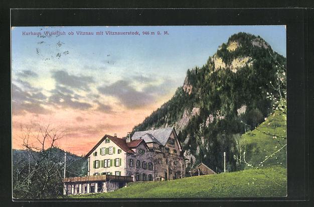 AK Vitznau, Kurhaus Wissifluh mit Vitznauerstock 0