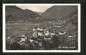 Foto-AK Malvaglia, Panorama des Ortes