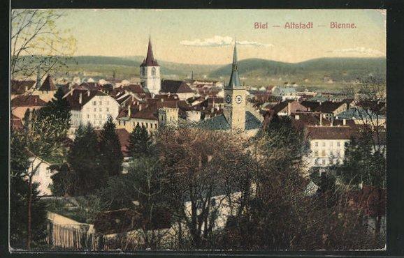 AK Biel / Bienne, Blick auf die Altstadt 0