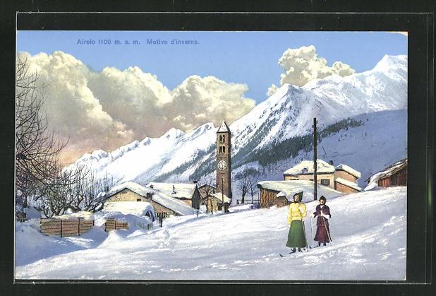 AK Airolo, Motivo d`inverno, Skiläuferinnen 0