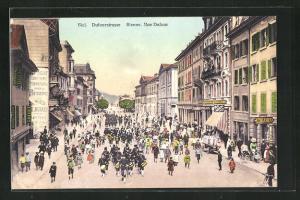 AK Biel, Dufourstrasse mit Cadettenkorps