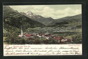 AK Sils-D, Totalansicht mit Bergen