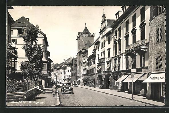 AK Rheinfelden, Marktgasse mit Auto 0
