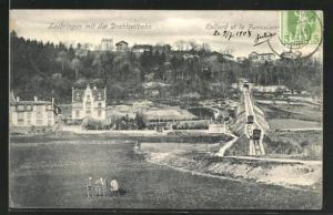 AK Leubringen, Teilansicht mit der Drahtseilbahn