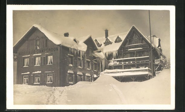 AK Flums, Kurhaus Gamperdon im Schnee 0