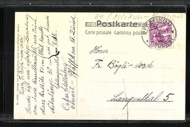AK Isikon-Hittnau, Portrait und Geburtshaus des Dichters Jakob Stutz 1810-1877 1