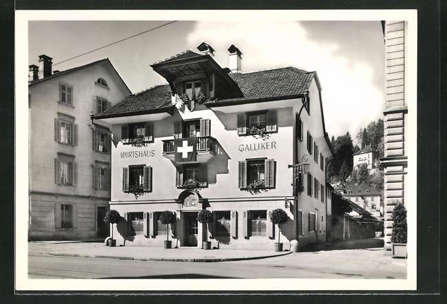 AK Luzern, Wirtshaus Galliker am Kasernenplatz 0