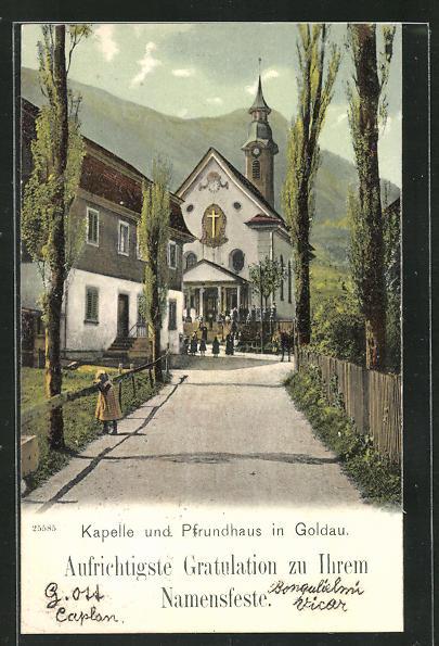AK Goldau, Kapelle und Pfrundhaus 0