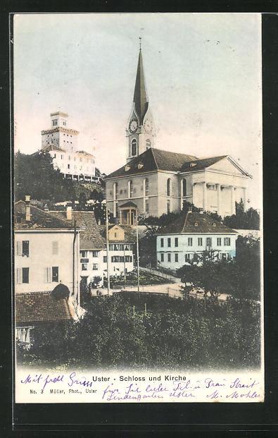 AK Uster, Schloss und Kirche 0