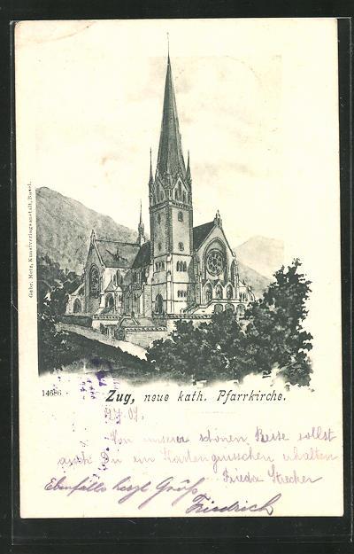 AK Zug, neue Kath. Pfarrkirche 0