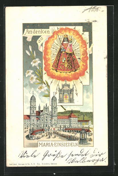 Lithographie Maria-Einsiedeln, Mutter Gottes 0