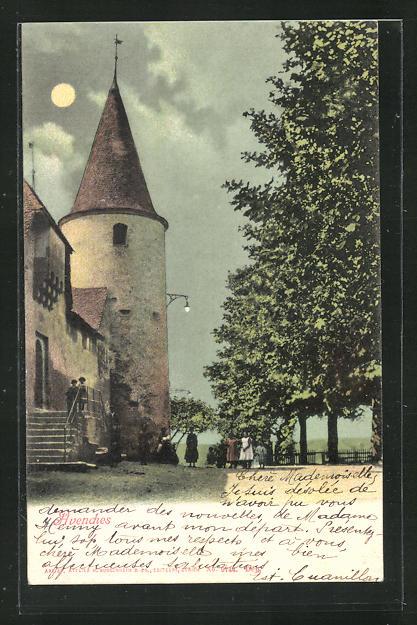 AK Avenches, Partie mit historischem Turmbau 0