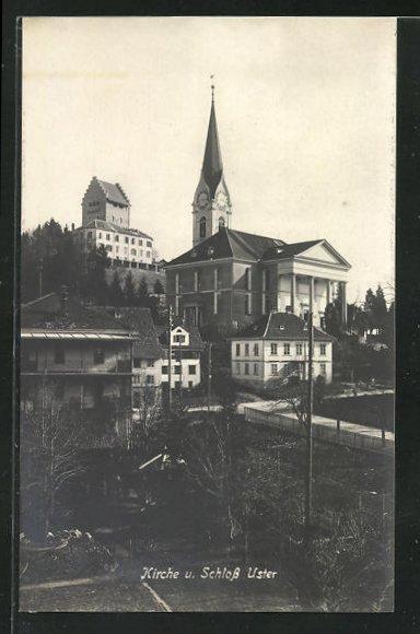AK Uster, Kirche und Schloss 0