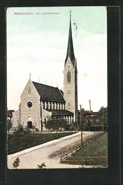 AK Rorschach, Blick auf die Jugendkirche 0