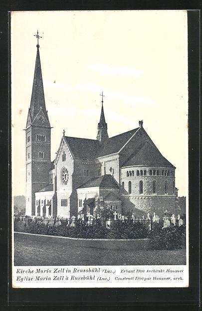 AK Reussbühl, Kirche Maria Zell 0
