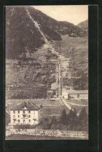 AK Piotta, Hôtel de la Poste, Funicolare al Ritom, Bergbahn