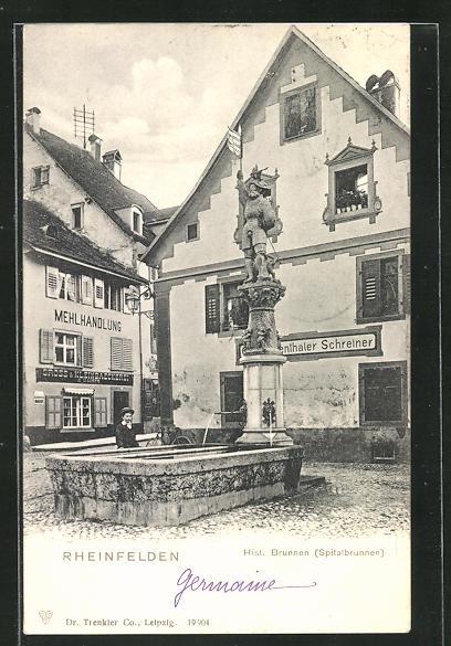 AK Rheinfelden, Hist. Brunnen, Spitalbrunnen 0