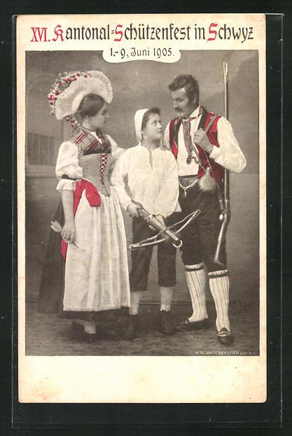 AK Schwyz, XVI. Kantonal-Schützenfest 1905, Trachten 0