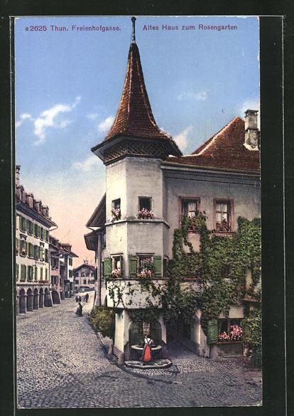 AK Thun, Freienhofgasse, Altes Haus zum Rosengarten 0