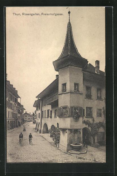 AK Thun, Rosengarten, Freienhofgasse 0