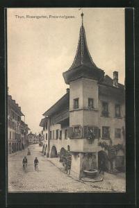 AK Thun, Rosengarten, Freienhofgasse