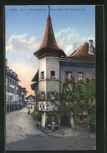 AK Thun, Freienhofgasse, Altes Haus zum Rosengarten