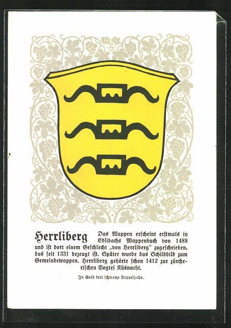 AK Herrliberg, Wappen des Geschlechts von Herrliberg 0