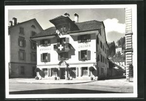 AK Luzern, Wirtshaus Galliker, Kasernenplatz
