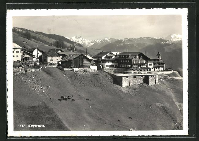 Foto-AK Wergenstein, Blick auf den Ort 0