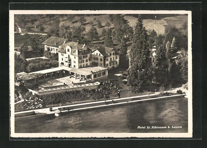 AK St. Niklausen, Hotel St. Niklausen aus der Vogelschau 0