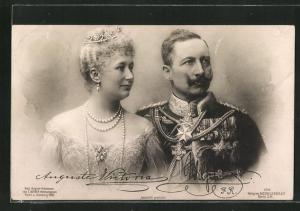 AK Unser Kaiserpaar, Portrait von Kaiser Wilhelm II. mit seiner Gattin