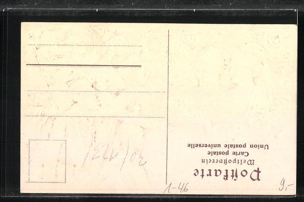 Präge-AK Zur Erinnerung an die Silberhochzeit des Kaiserpaares 1906, Volk jubelt dem Paar zu 1
