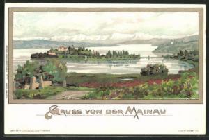 Künstler-AK Karl Mutter: Blick auf die Mainau