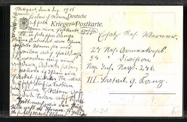 AK König Wilhelm II. von Württemberg, Charlotte zu Schaumburg-Lippe, Deutsches Krieger-Gebet 1