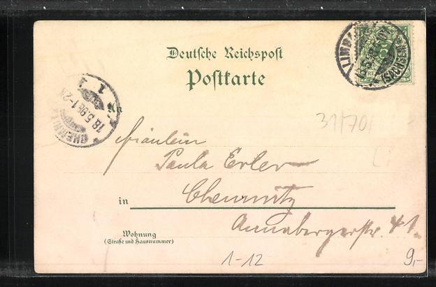 AK Zur Erinnerung an den 70. Geburtstag und das 25 jähr. Regierungs Jubiläum Sr. Maj. des Königs Albert von Sachsen 1898 1
