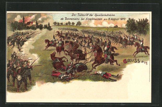 AK Elsasshausen, Der Todesritt der Kavalleriedivision de Bonnemains 1870, Reichseinigungskriege 0