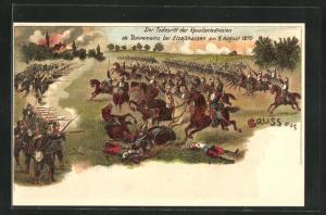 AK Elsasshausen, Der Todesritt der Kavalleriedivision de Bonnemains 1870, Reichseinigungskriege