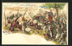 AK Elsasshausen, Mac Mahon in Uniform zu Pferde, Reichseinigungskriege