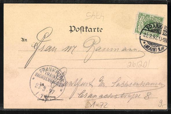 AK Zur 100. Geburtstagsfeier Kaiser Wilhelm I. 1797-1897, Kaiser 1870, Denkmal 1
