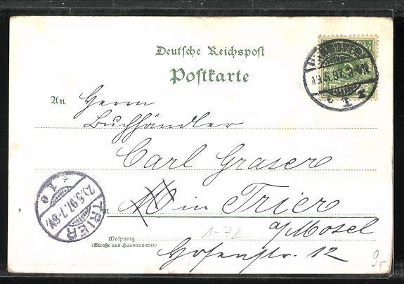 AK Zum hunderjährigen Geburtstage Kaiser Wilhelm`s des Grossen 1797-1897 1