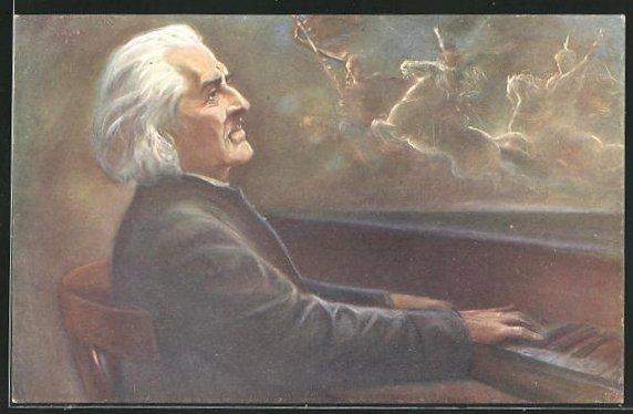 AK Portrait Franz Liszt, Rhapsodie hongroise 0