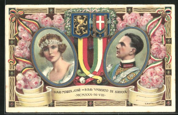 AK SAR maria Jose, SAR Umberto di Savoia MCMXXX VIII. 0