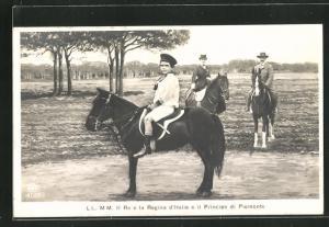 AK LL. MM. Il Re e la Regina d`Italia e il Principe di Piemonte