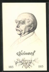 AK Portrait Fürst Otto von Bismarck