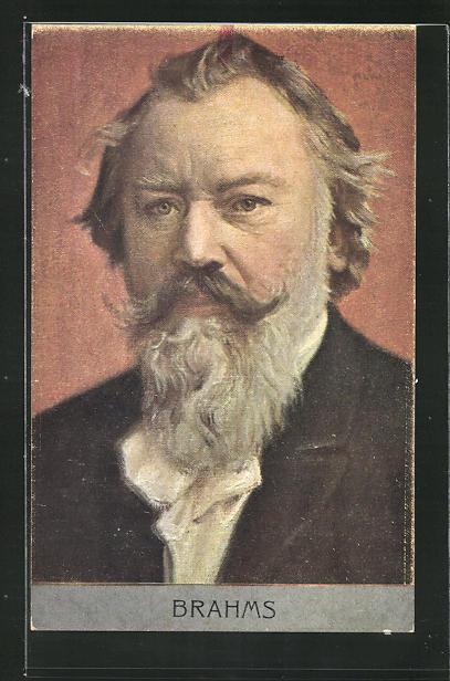 AK Portrait Johannes Brahms, Komponist 0
