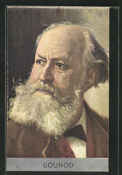 AK Portrait Charles Gounod, Komponist 0