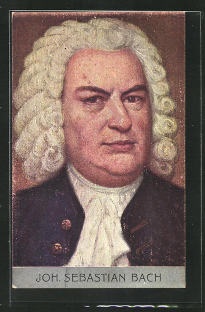 AK Portrait Johann Sebastian Bach, Komponist 0