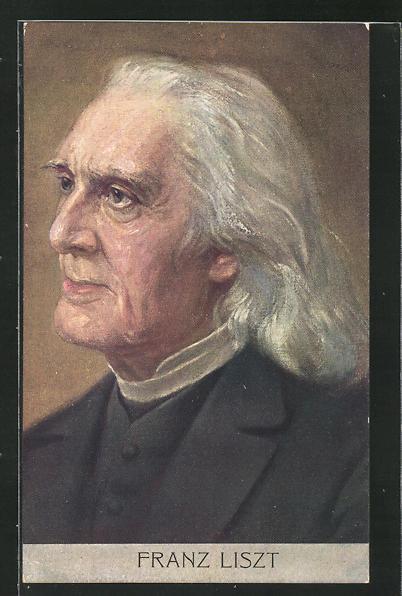 AK Portrait Franz Liszt, Komponist 0