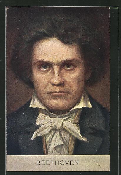 AK Portrait Ludwig van Beethoven, Komponist 0